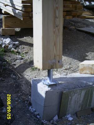 Plots b ton section ferraillage besoin de conseils auto construction - Plot en beton pour poteau ...